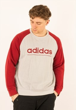 Vintage 90s Red White Adidas Sweatshirt Crewneck