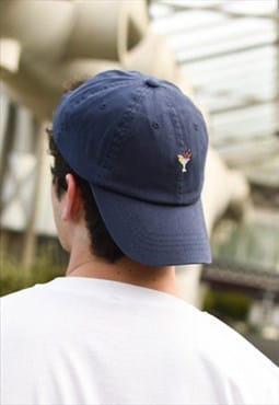 Embroidered Dad Cap in Navy