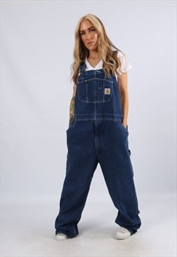 Vintage CARHARTT Denim Dungarees PLUS SIZE UK 18 2XL (2AB)