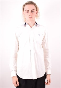 Polo Ralph Lauren Mens Vintage Shirt Medium White 90s