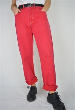 Vintage red regular DIESEL trousers