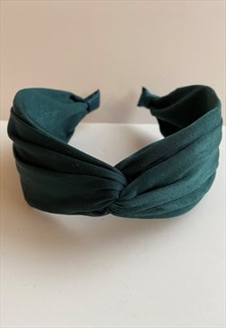 Twisted Knot Wide Headband in Teal