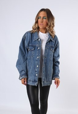 Denim Jacket RACING HORSE Oversized Fitted UK 18 - 20 (E4CG)