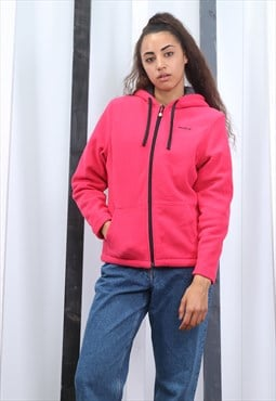 Vintage 90s Pink Reebok zip up Fleece. Unisex. Oversized.