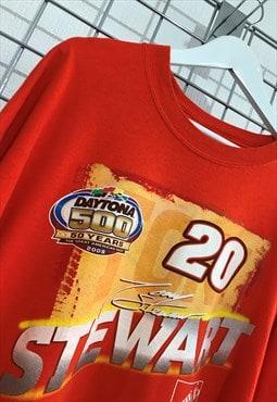 Nascar Orange Tony Stewart 20 T-Shirt