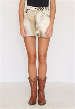 Vintage Brown ROBERTO CAVALLI Mini Skirt