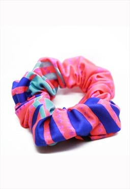 Red, Blue and Green Animal Print Hair Scrunchie