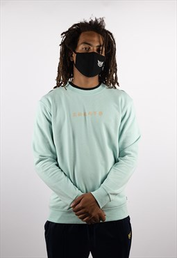Grown Lotus Organic Sweatshirt - Aqua