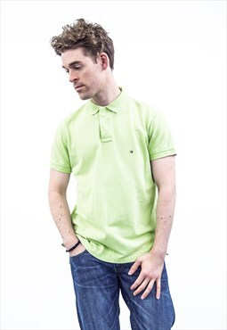 Tommy Hilfiger Vintage 1990s Green Polo Shirt