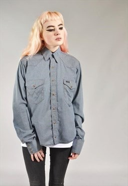 Vintage Wrangler Grey Denim Shirt