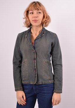 Vintage Wrangler Denim Jacket Navy Blue