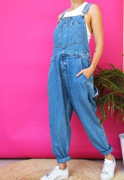 Classic Blue Denim Casual Fit Dungarees