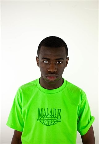 MALADE NATION GREENT-SHIRT WORLDWIDE PRINT