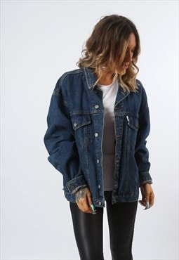 Denim Jacket Vintage Oversized  Fitted UK 18 - 20  (A81C)