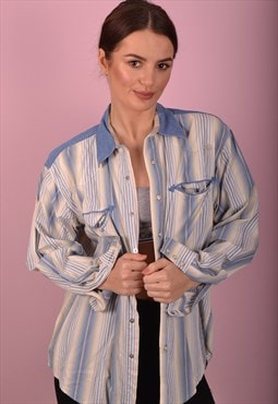 Blue Wrangler Striped Shirt GRL3544