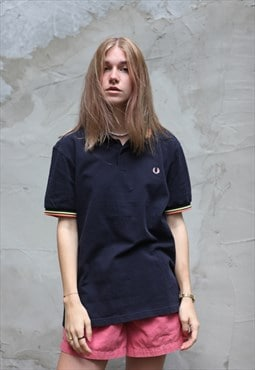 Vintage Fred Perry T-shirt Navy Blue