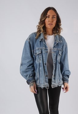 Denim Jacket EDWIN Oversized Fitted Vintage UK 18  (LWCC)
