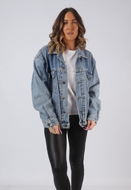 Denim Jacket Oversized Fitted NINETY Vintage UK 16  (W3V)