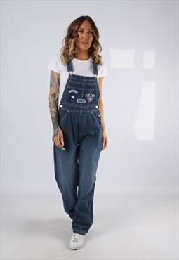 Denim Dungarees DISNEY Wide Tapered Legs  UK 8 (99EH)