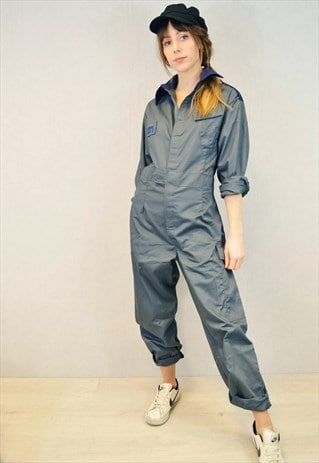 Vintage Royal Navy Boilersuit Overalls Jumpsuit