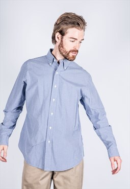 Vintage Ralph Lauren Shirt in Blue with Long-sleeved