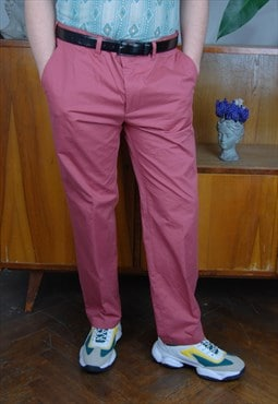 Vintage regular old pink oversized festival trouser / UNISEX