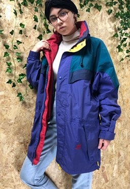 Vintage Helly Hansen Purple Waterproof Jacket