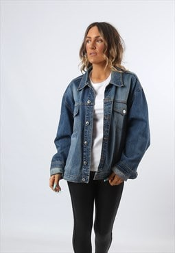 Denim Jacket Vintage Oversized Fitted UK 18  (H81G)