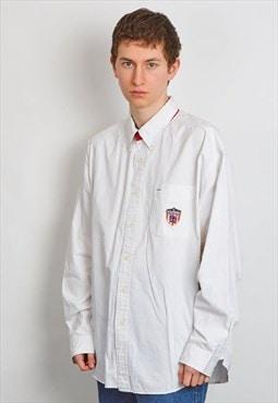 Vintage 90's Tommy Hilfiger logo white shirt