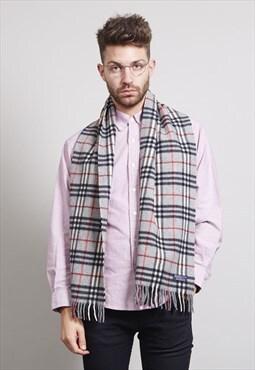 RARE Classic vintage grey cashmere Burberry scarf