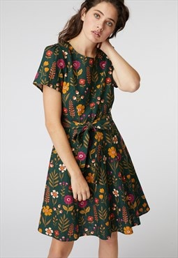 Princess Highway Green Floral Tie Dress