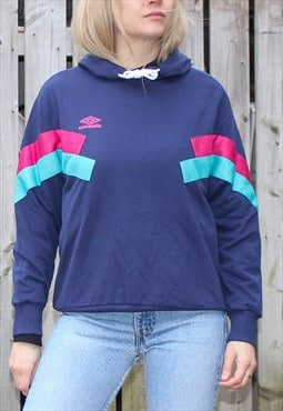 Retro Umbro Chevron Colour Block Hoodie