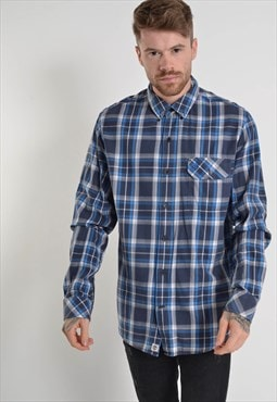 Vintage Timberland Long Sleeve Check Shirt Blue