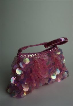 Y2k Tiny Beaded Purse  large sequin