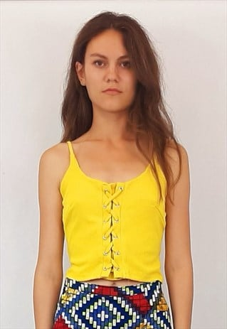 YELLOW LACED BLOUSE