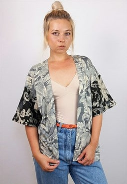 Vintage Short Sleeve Patterned Kimono / Tunic / Kaftan