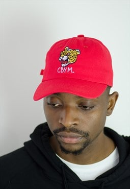 Retro inspired / Red embroidered tiger sports club dad hat