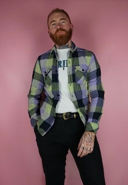vintage 1990s check flannel shirt