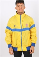 Vintage Nike XL Yellow Windbreaker Festival Jacket