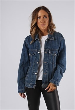 Vintage Denim Jacket BALJIN UK 10 - 12 Medium (Q4X)