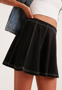 Flared skirt - black