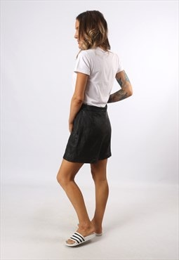 High Waisted Leather Shorts Bohemian UK 12 - 14 (K7CN)
