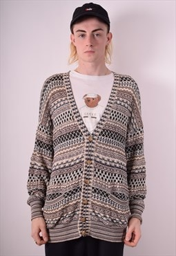 Missoni Mens Vintage Cardigan Jumper Large Multi 90s