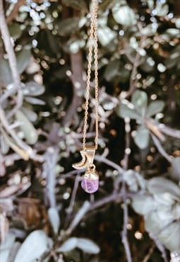 The Nubian Princess necklace (Amethyst & Gold)