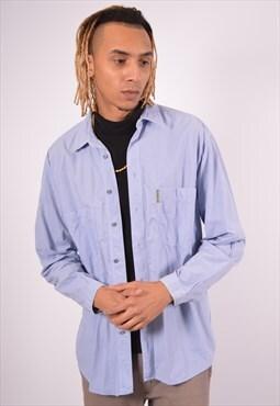 Vintage Armani Shirt Blue