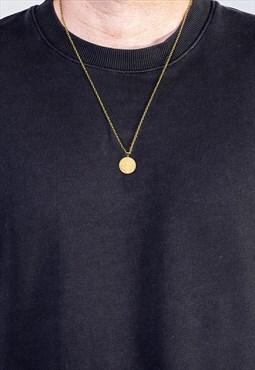 """24"""" Saint Christopher Pendant Necklace Chain - Gold"""