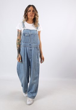 Denim Dungarees GAP Wide Tapered Leg Vintage UK 14  (C8BT)