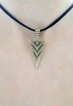 bronze arrowhead choker - suede choker