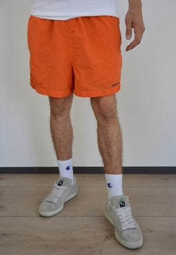 Vintage Tommy Hilfiger Swim Sport Shorts in orange color