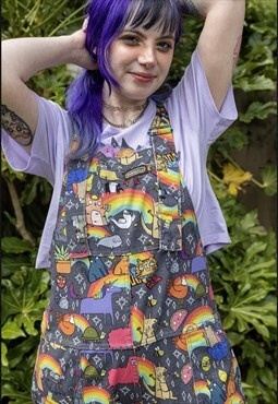 Katie Abey positivity rainbow  & character  dungaree